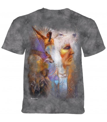 Tee-shirt Vision du loup The Mountain