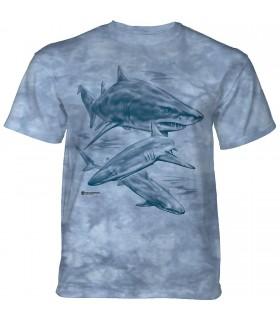 The Mountain Monotone Sharks T-Shirt