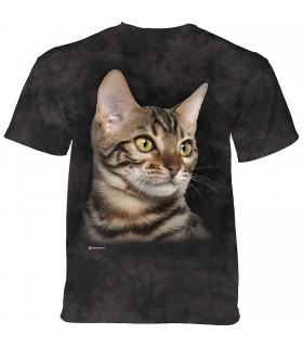 The Mountain Striped Cat Portrait T-Shirt