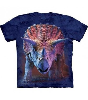 T-Shirt Triceratops en train de charger par The Mountain