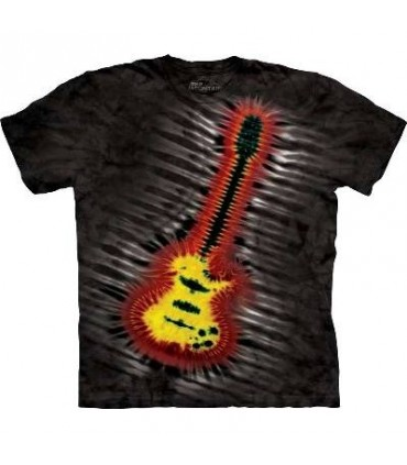 Tie-Dye Electric Guitar - Rock T Shirt by the Mountain