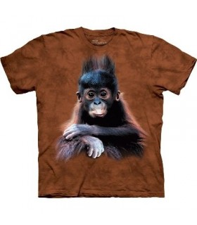 Orangutan Baby - Zoo Animals T Shirt by the Mountain