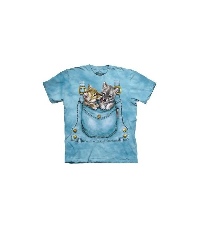 T-Shirt Loups de poche par The Mountain