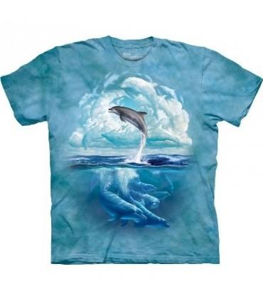 T-Shirt Dauphin dans le ciel par The Mountain