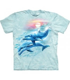 T-Shirt dauphins et coucher de soleil par The Mountain