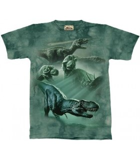 T-Shirt groupe de dinosaures par The Mountain