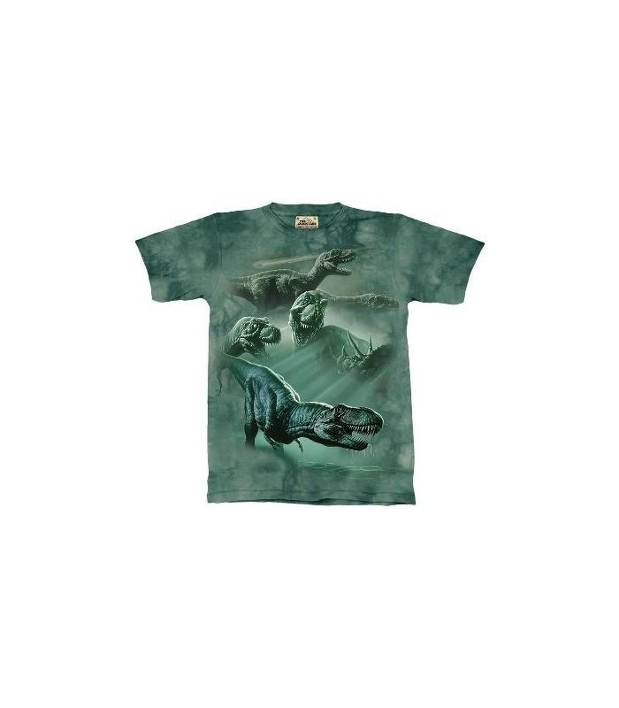 T-Shirt groupe de dinosaures par The Mountain