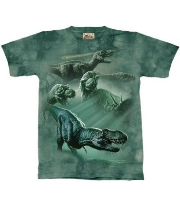 Dinosaur Collage - Zoo Animals T Shirt by the Mountain