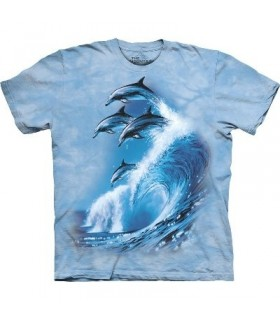 Four Dolphins - Zoo Animals T Shirt by the Mountain