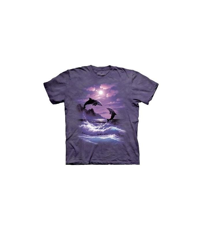 T-Shirt dauphin au clair de lune par The Mountain