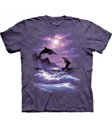 T-Shirt dauphin au clair de lune par The Mountain