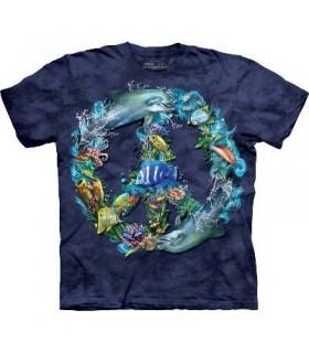 T-Shirt paix sous l'eau par The Mountain