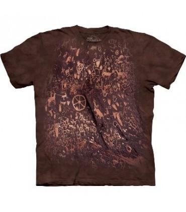 T-Shirt mur de Pétroglyphes par The Mountain