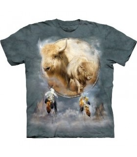 White Buffalo Shield Native American T Shirt by the Mountain
