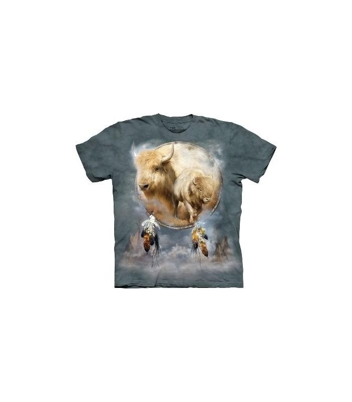 T-Shirt Bouclier Buffle blanc par The Mountain
