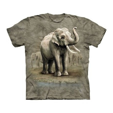 T-Shirt Eléphants d'Asie par The Mountain