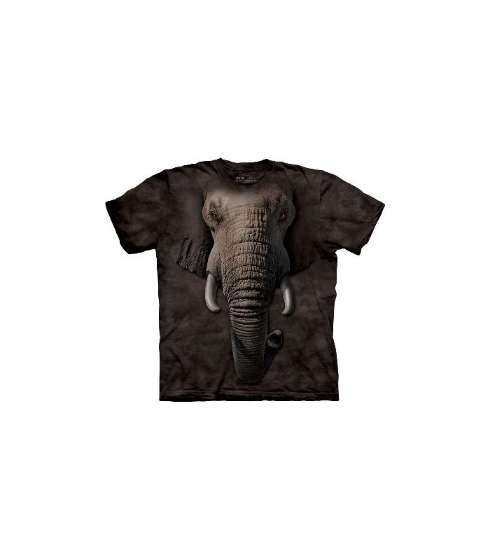 Elephant Face - Zoo T Shirt by the Mountain