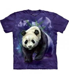 Panda Collage - Panda T Shirt by the Mountain