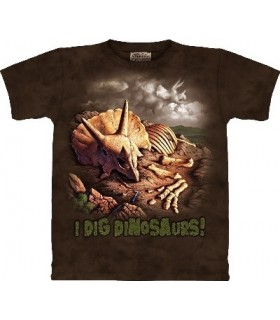 T-Shirt Fouilles de Dinosaures par The Mountain