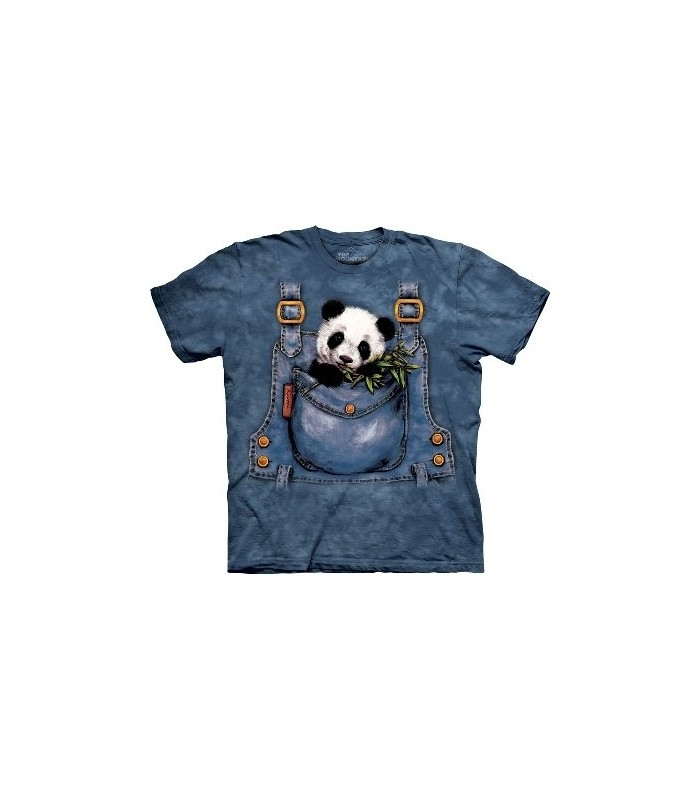 Panda Overalls - Zoo Animals T Shirt by the Mountain