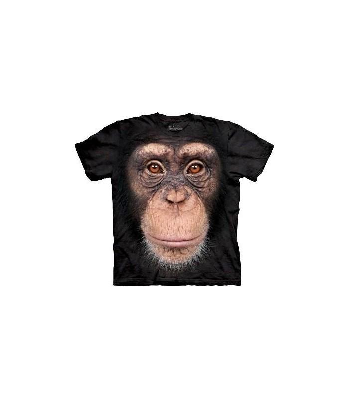 Chimp Face - Primate T Shirt Mountain