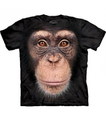T-Shirt tête de Chimpanzé par The Mountain
