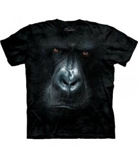 T-Shirt Gorille dans la brume par The Mountain