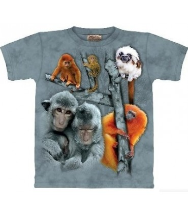 Monkey Collage - Zoo Animals T Shirt by the Mountain