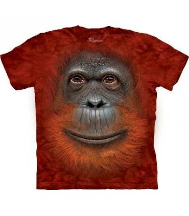 Orangutan Face - Primate T Shirt Mountain