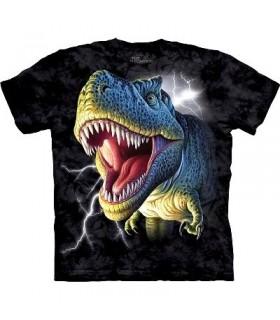 Lightening Rex - Dinosaur Shirt Mountain