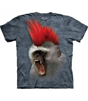 Punky! - Monkey T Shirt by the Mountain