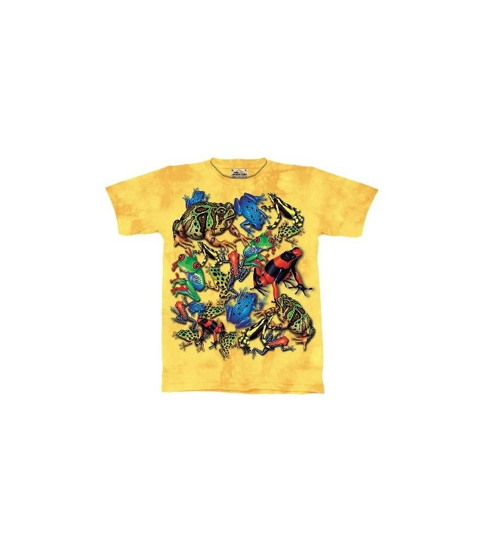Frog Collage - Amphibian T Shirt by the Mountain