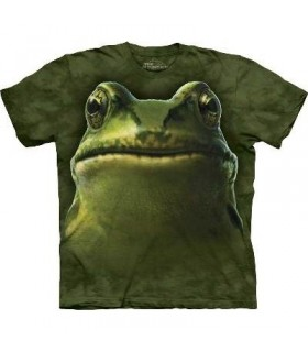 Frog Head - Frog T Shirt by the Mountain