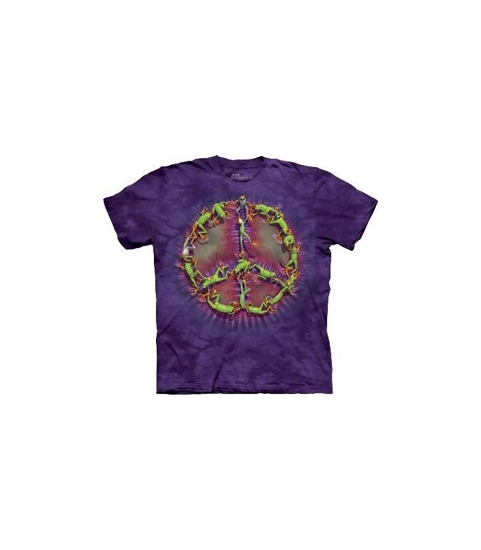 Frog Peace Dye - Amphibian T Shirt by the Mountain