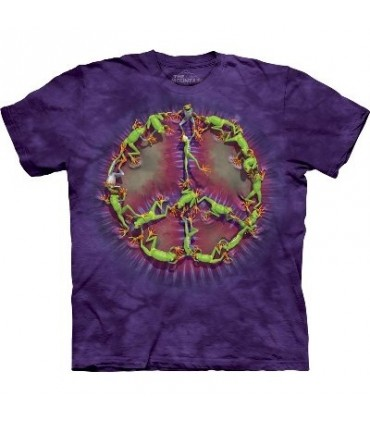 Frog Peace Dye - Amphibian T Shirt by the Mountain
