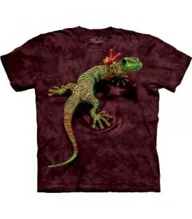 Peace Out Gecko - Reptile T Shirt Mountain
