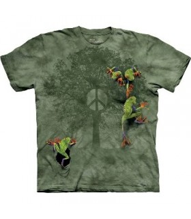 Peace Tree Frog - Amphibian T Shirt Mountain