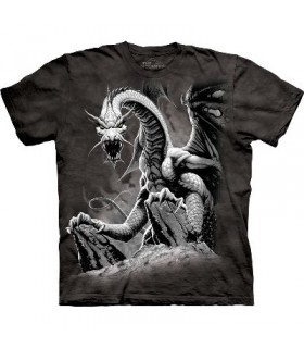 T-Shirt Dragon noir par The Mountain