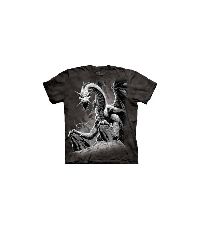 Black Dragon - Dragons T Shirt by the Mountain