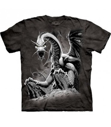 Black Dragon - Dragons T Shirt by the Mountain