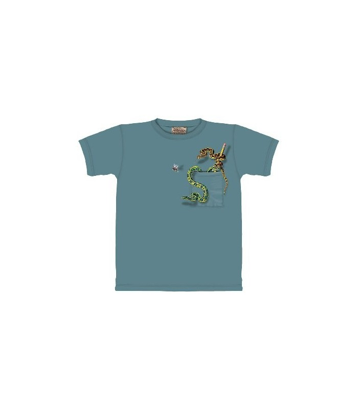 Snake Pocket - Zoo Animals T Shirt by the Mountain