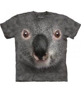 Gray Koala Face - Animal T Shirt Mountain