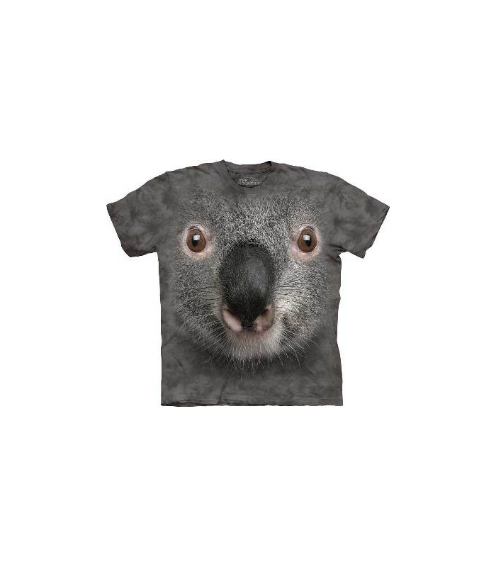 Gray Koala Face - Animal T Shirt Mountain