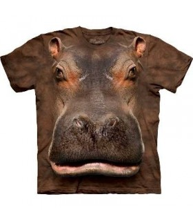 T-Shirt Hippopotame par The Mountain