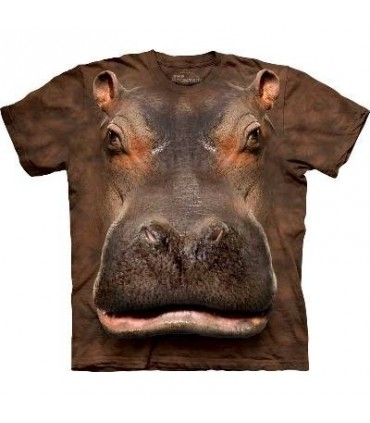 Hippo Head - Hippo T Shirt by the Mountain