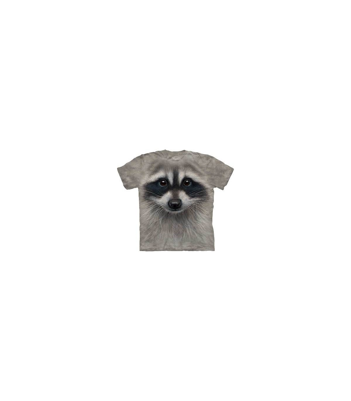 Raccoon Face - Animals T Shirt by the Mountain