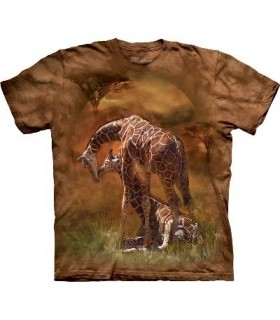 Giraffe Sunset - Animals T Shirt by the Mountain