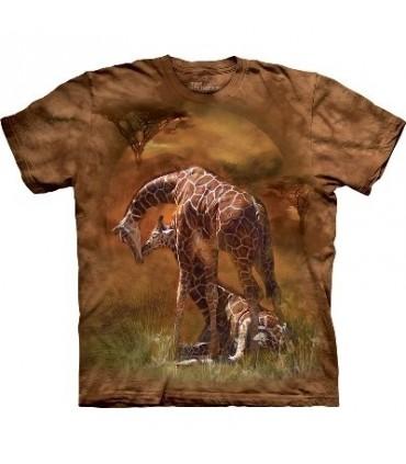 Giraffe Sunset - Animals T Shirt by the Mountain