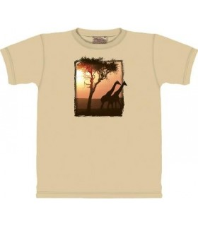 T-Shirt Girafes dans le Parc par The Mountain