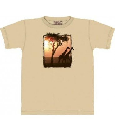 Giraffic Park - Zoo Animals T Shirt by the Mountain